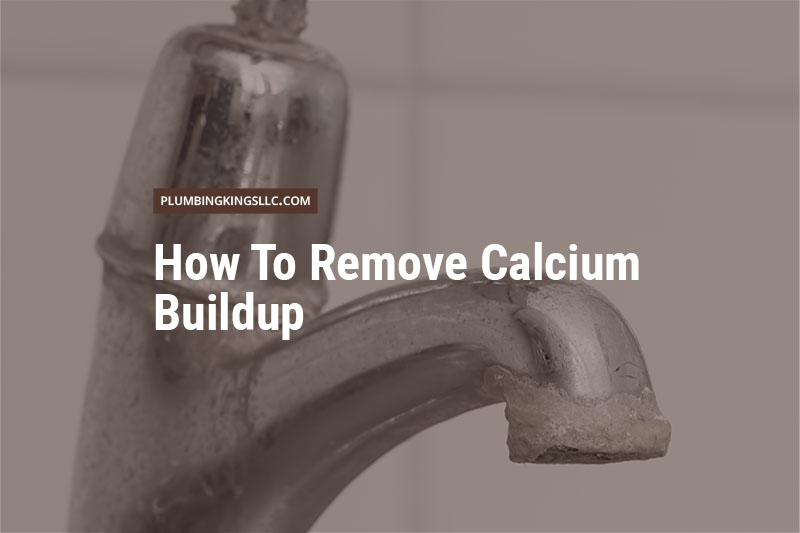 calcium build up on a faucet